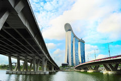 Marina Bay in Singapore Stock Photo