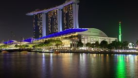 Marina Bay Singapore-Stadtbildzeitversehen Pan oben stock video footage