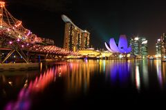Marina Bay, Singapore: Stedelijke Scenics Royalty-vrije Stock Afbeeldingen