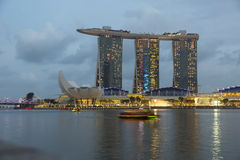 Marina Bay, Singapore - timelapse Royalty-vrije Stock Foto