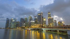 Marina Bay, Singapore - timelapse stock video footage