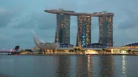 Marina Bay, Singapore - timelapse stock video