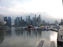 Marina Bay Singapore view in the afternoon. Marina Bay makes you feel amazing experiences. A lot of things..It looks like the woods in Avatar stock image