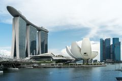 Marina Bay in Singapur stockfotografie