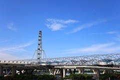 Marina Bay, Singapur - 20 de junio de 2014: Vista de los wi de Marina Bay Fotografía de archivo libre de regalías