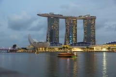 Marina Bay, Singapura - timelapse Foto de Stock Royalty Free
