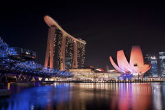 Marina Bay Skyline Royalty Free Stock Photo