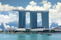 Marina Bay Skyline Singapore Stock Photos