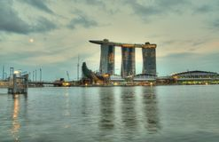 Marina Bay Twilight Royalty Free Stock Photo