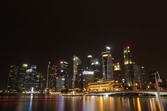 Marina bay view royalty free stock photography