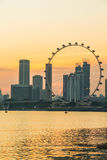 Marina Bay View des Singapur-Stadtmarksteins Stockfotos