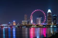 Marina Bay View van de stadsoriëntatiepunt van Singapore Stock Afbeelding