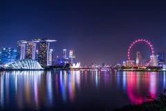 Marina Bay View van de stadsoriëntatiepunt van Singapore Royalty-vrije Stock Afbeelding