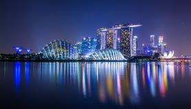 Marina Bay View van de stadsoriëntatiepunt van Singapore Stock Fotografie