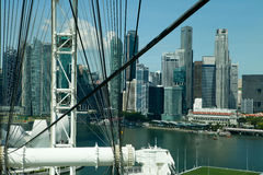 Marina Bay viewed from the Singapore Flyer Stock Images