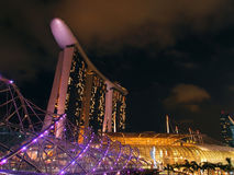 The Marina Bay waterfront Royalty Free Stock Photos