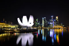 The Marina Bay waterfront Stock Image