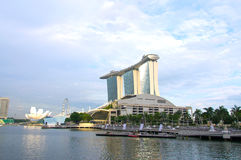 The Marina Bay waterfront Royalty Free Stock Photography
