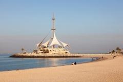 Marina Beach in Koeweit Stock Afbeelding