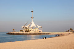 Marina Beach nel Kuwait Immagine Stock