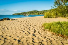 1770 marina and beach in Queensland, Australia royalty free stock images