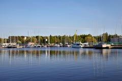 Tallinn Pirita Harbor at Dusk Royalty Free Stock Photo