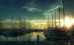 The Marina. Benalmadena Puerto,  Maritimo Paseo, Spain Royalty Free Stock Photography