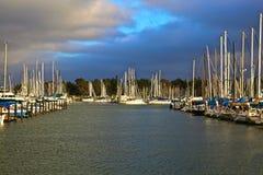 Marina Berkeley California. Sail boats in the Berkeley Marina California at sunset Royalty Free Stock Image