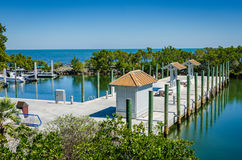 Marina - Biscayne park narodowy - Floryda Fotografia Royalty Free