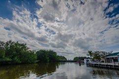 Marina - Biscayne park narodowy - Floryda Zdjęcie Royalty Free