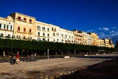 Marina boardwalk in Ortigia. Sicily Royalty Free Stock Photo