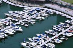 Marina Boats 3. Several boats berthed outside the Marina Sailing Club royalty free stock photo