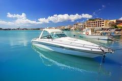 Marina with boats on the bay of Zakynthos Royalty Free Stock Images