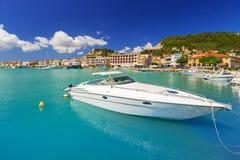 Marina with boats on the bay of Zakynthos Royalty Free Stock Photography