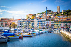 Marina of boats in Cannes France Stock Image