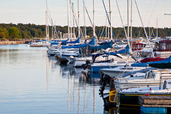 Marina with Boats Stock Photography
