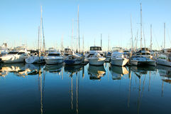 Marina Boats At Daybreak Royalty Free Stock Images