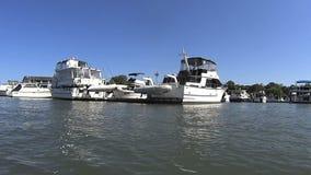 Marina Boats 1 stock video