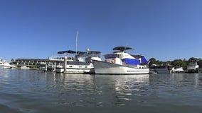 Marina Boats 2 stock video footage