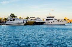 Marina boats and yachts Stock Photos