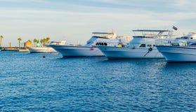 Marina boats and yachts Stock Images