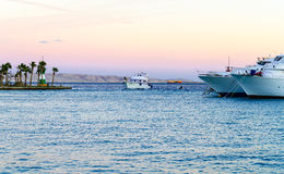 Marina boats and yachts Royalty Free Stock Photo