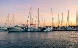 Marina boats and yachts Stock Image