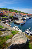 Marina on Bornholm island. Small bay and marina on Bornholm island, Denmark, Europe royalty free stock photos