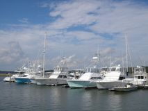 Marina in bright sunlight Royalty Free Stock Photos