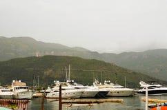 Marina in Budva ,Montenegro Royalty Free Stock Photos
