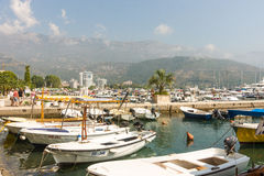 Marina in Budva, Montenegro Stock Photography