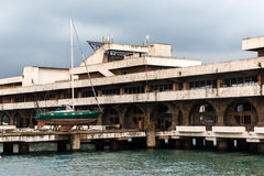 Marina building in capital of Abkhazia Sukhumi Stock Images