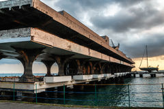Marina building in capital of Abkhazia Sukhumi Stock Image