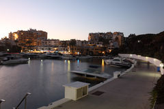 Marina of Cabopino at dusk. Spain Stock Photo